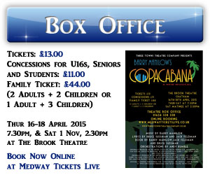 Buy tickets for the Copacabana Musical at The Brook Theatre online box office