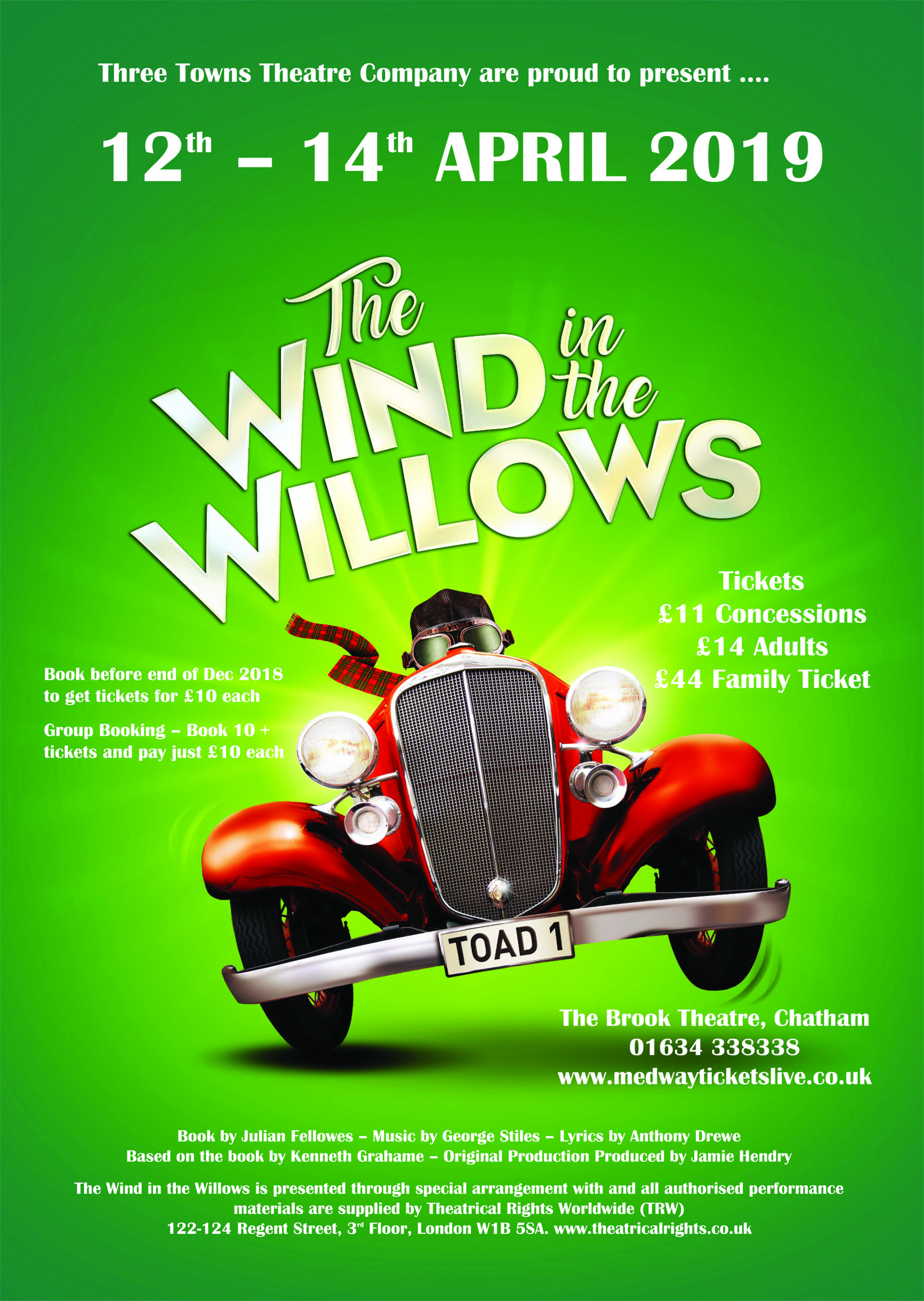The Wind in the Willows performed by Three Towns Theatre Company